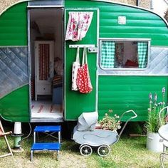 Great reuse of an old travel trailer into a playhouse!!
