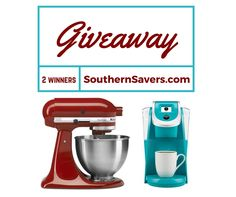 Wanna win something new for the kitchen? Right now we're giving away one KitchenAid Mixer in the color of your choice and a Keurig 2.0 in Teal. You can enter here, or have another chance to win by entering over on our Facebook page. There's going to be one winner of each prize, so enter …