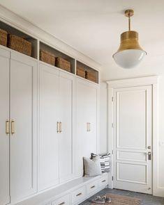 Mudroom Cabinets, Mudroom Laundry Room, Laundry Room Design, Bench Mudroom, Mud Room Lockers, Mud Room In Garage, Mudroom Storage Ideas, Small Mudroom Ideas, Built In Lockers