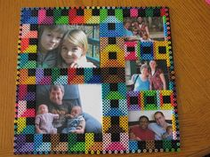 Photo frame perler beads by Rita B. Perler® | Gallery