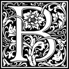 William Morris Letter B by kuba