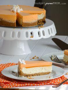 Orange Creamsicle Cheesecake from McNamara McNamara {Budget Gourmet Mom} Just Desserts, Delicious Desserts, Yummy Food, Think Food, Love Food, Orange Creamsicle, Cheesecake Recipes, Dessert Recipes, Plain Cheesecake