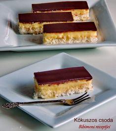 Kókuszos csoda | Bibimoni Receptjei Cheesecake, Food Porn, Baking, Dessert Ideas, Sweet, Kitchen, Tips, Candy, Cooking