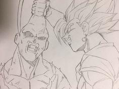Super Vegetto vs Super Buu Gohan Absorbed