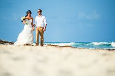 """Sara & Scott's Adventurous Riviera Maya Wedding Photo Shoot. They had a beautiful Riviera Maya wedding photo session paired with a beach trash the dress after their beautiful ceremony on Thursday, May 14th, 2015 at the Valentin Imperial Maya. Click """"Visit"""" for more images!"""