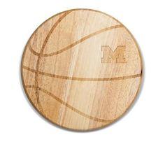 University of Michigan Wolverines Basketball Wine & Cheese Cutting Board