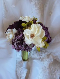 eggplant Wedding Flowers | ... Eggplant Orchids Wedding Bouquet - Treasured Moments Flowers & Gifts