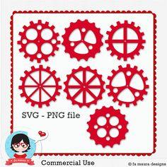Engrenagens SVG/PNG file by Fa Maura [FaMaura_ElementosEngrenagem] - $5.00 : FaMaura.com - scrapshop