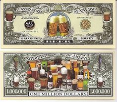 Beer Money Million Dollar Novelty Bill Collectible -- You can find out more details at the link of the image.