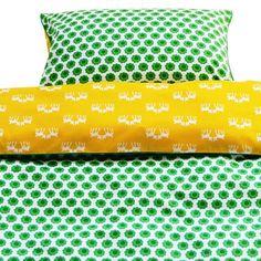 Grøn / gul Bambi BABY sengetøj fra Blafre