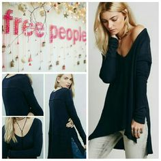 Free People Sunset Park Thermal Top Free People Sunset Park Thermal Top in navy. This super soft thermal boasts a stretch fabric, swing silhouette with a hi-lo hem, side vents and stitch detailing along the sleeves!   No trade, discount with bundle! Considering all reasonable offers made via the blue offer button only! Free People Tops