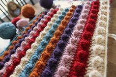 Crochet Popcorn Stitch Blanket Pattern crafts-and-such