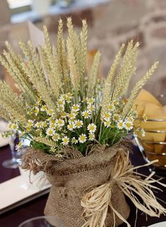 Rustic Wheat Wedding Ideas Tasting Day at The Ashes Table Decoration Wedding, Wedding Table Centerpieces, Flower Centerpieces, Table Decorations, Centerpiece Ideas, Rustic Wedding Flowers, Chic Wedding, Wedding Day, Trendy Wedding