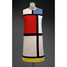 1960's Yves Saint Laurent's Mondrian Shift Dress