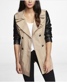 beige trench coat bow back - Google Search
