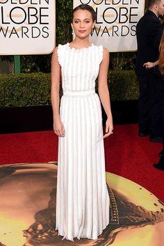 Alicia Vikander Gloden Globes Red Carpet Style Wins   NYLON