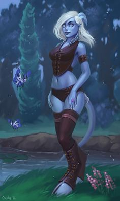 Draenei from World of WarCraft - Illustration de Irina Vostrikova