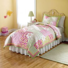 @Overstock - Julia Applique Embellished 3-piece Quilt Set - These Julia quilts are a collection of applique patches for a whimsical kids quilt.  Each piece is cotton filled and prewashed for a classic soft texture, heirloom quality.  http://www.overstock.com/Bedding-Bath/Julia-Applique-Embellished-3-piece-Quilt-Set/6774119/product.html?CID=214117 $89.99