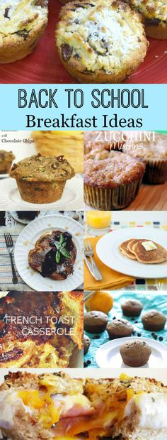 Back to School Breakfast Ideas are the perfect recipes to get the morning started right!