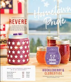 Scentsy's June 2017 Warmer, 'Revere' and Scent of the Month, ' Huckleberry Clementine'. 10% off all month long. #wickless #candles #wax #warmers #scentsbykris