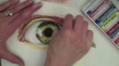 Oil Pastel Eye Demonstration by Skyview Video Production. Demonstration on drawing an eye in oil pastel for the Art III oil pastel project