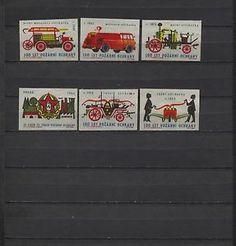 Nice Lot of 6 Solo Lipnik Fire department Vintage Matchbox Labels | eBay