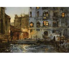 Chien Chung Wei | Dusk in Venice 威尼斯暮色 27.4 × 18.3cm