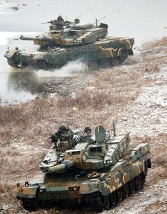 ROK Army K2 Black Panther MBTs [843 x 1080]