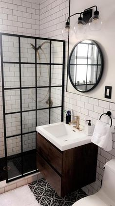 Merola Tile Braga Classic Encaustic Ceramic Floor and Wall Tile - 3 in. x 4 in. Tile - The Home Depot Merola Tile Braga Classic Encaustic Ceramic Floor and. Zen Bathroom, Guest Bathrooms, Bathroom Wallpaper, Bathroom Renos, Bathroom Renovations, Bathroom Interior, Modern Bathroom, Small Bathroom, Master Bathroom