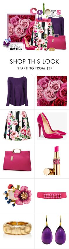 """Colorful Trend ... !!"" by fashiongirl-26 ❤ liked on Polyvore featuring Snobby Sheep, Vera Wang, Dolce&Gabbana, Christian Louboutin, Yves Saint Laurent, Les Néréides, Alberta Ferretti and Sidney Garber"