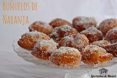 Las recetas de Masero.: Buñuelos de naranja Bunuelos Recipe, Venezuelan Food, Venezuelan Recipes, Kiss The Cook, Churros, Fritters, Donuts, Cereal, Muffin