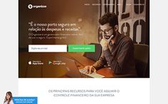 A single page site made for Organizze, software for control and financial management for small business