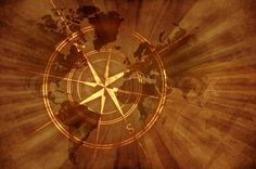 Stock photo ✓ 18 M images ✓ High quality images for web & print | Grunge Old Map with Compass Rose. Damaged Retro Style Design World Map Background with...