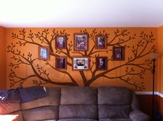 Tree Wall Decals Wall Stickers - Big Family Tree decal - Photo frame tree. $150.00, via Etsy.