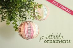 Diy tutorial free printable paper christmas ornaments 875 int