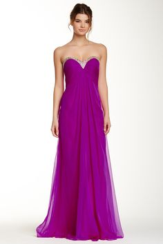 Strapless Open Back Gown by La Femme on @HauteLook