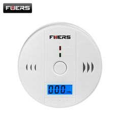 Fuers Home Security Alarm LCD Photoelectric Independent CO Gas Sensor Carbon Monoxide Poisoning Alarm Wireless Device Detector