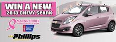 Making Strides Against Breast Cancer Spark Raffle - Phillips Chevrolet    http://www.phillipschevy.com/custom/making-strides-raffle/Chicago-IL-Chevrolet-Dealer#