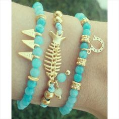 Pack Lucky Fish #fashion #boho #jewels #pulseras #armparty #primavera #trendy #moda www.byneskapolita.com