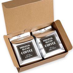 クラフト ギフト箱【ラベルテンプレート】 Coffee Gift Sets, Coffee Box, Coffee Gifts, Drip Coffee, Cookie Packaging, Tea Packaging, Food Packaging Design, Coffee Label, Coffee Subscription