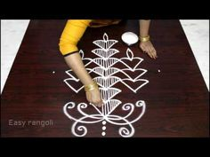 easy rangoli designs with 9 to 1 Interlaced dots - easy kolam - simple muggulu with dots - YouTube