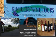 We provide a great experience, visiting some of Kentucky's finest wineries. All in a comfortable 20 passenger bus. Make your reservations today .