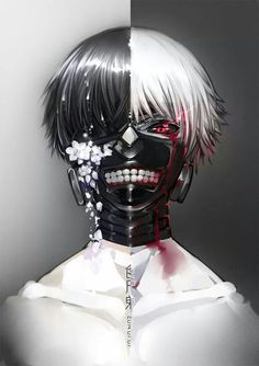 Kaneki Ken, Tokyo Ghoul. Okay, out with it. Kaneki reminds me of Ticci Toby. Seriously, the resemblance!