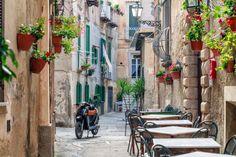 In den Straßen von Tropea