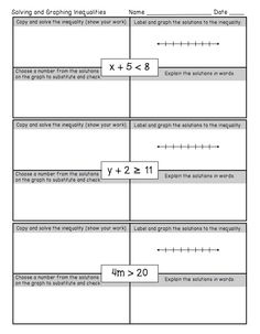 math worksheet : worksheets math worksheets and math on pinterest : Math Inequalities Worksheets