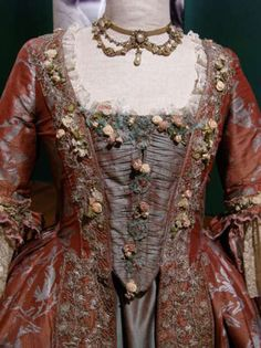 Detail of a costume from Dangerous Liaisons from the 2007 CosProp exhibit in L.A. (c) Alexandra St Grace