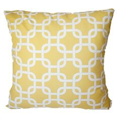 Yellow 'South Hampton' Cushion