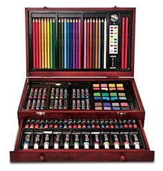 Any inspiring artist would appreciate this expansive Art 101 Wood Art Set. Watercolor Cake, Paint Tubes, Marquesan Tattoos, Basic Drawing, Mothers Day Crafts For Kids, Cute School Supplies, Wood Art, Wood Wood, Painted Wood