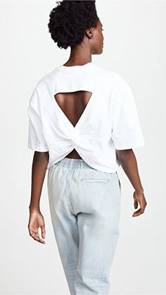 pushBUTTON Wrap Back Tee