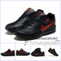 premium selection da523 441f3 Nike Air Max BW   Meilleur Chaussures Running Homme Noir Rouge 01